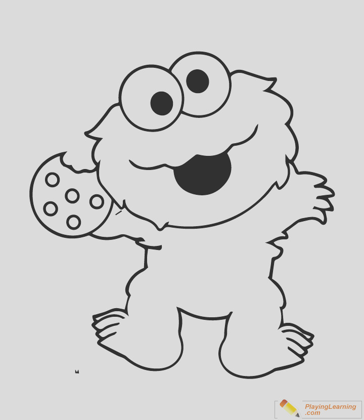 coloring sheet i=easy sesame street coloring page 07