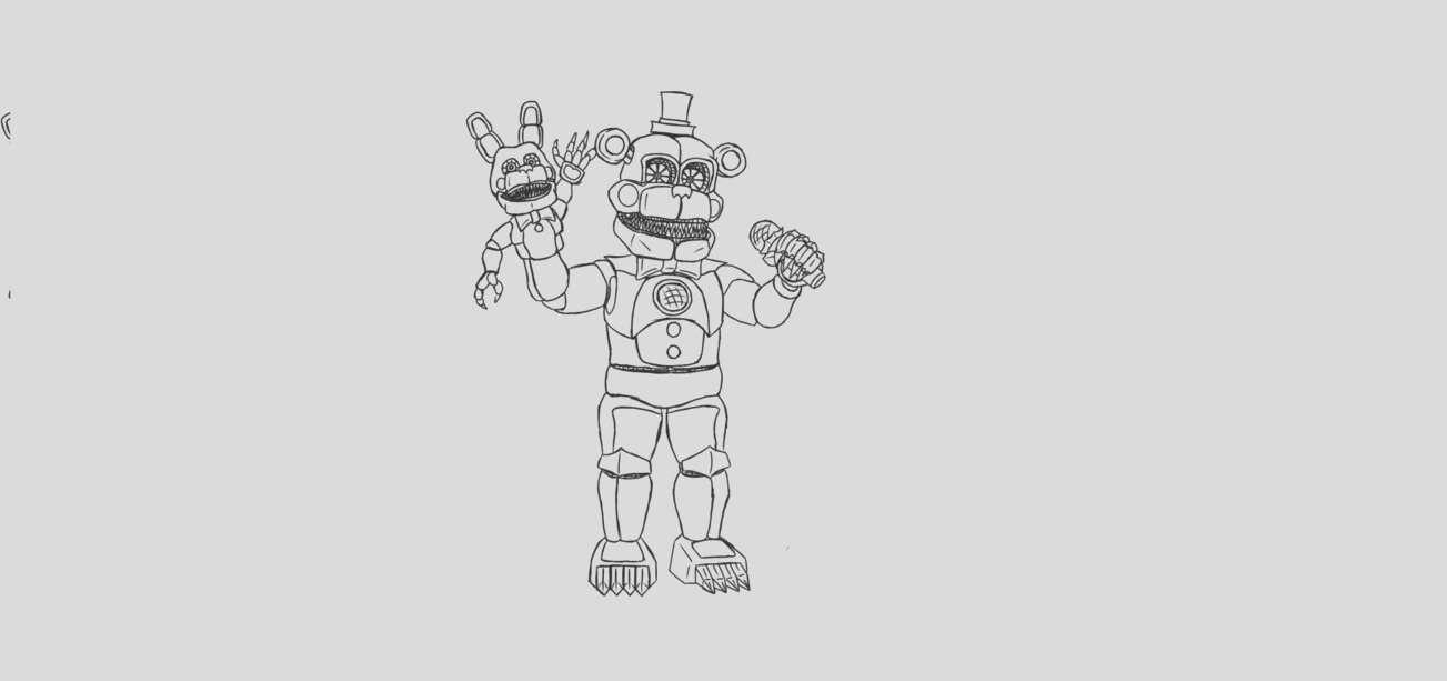 funtime freddy coloring page