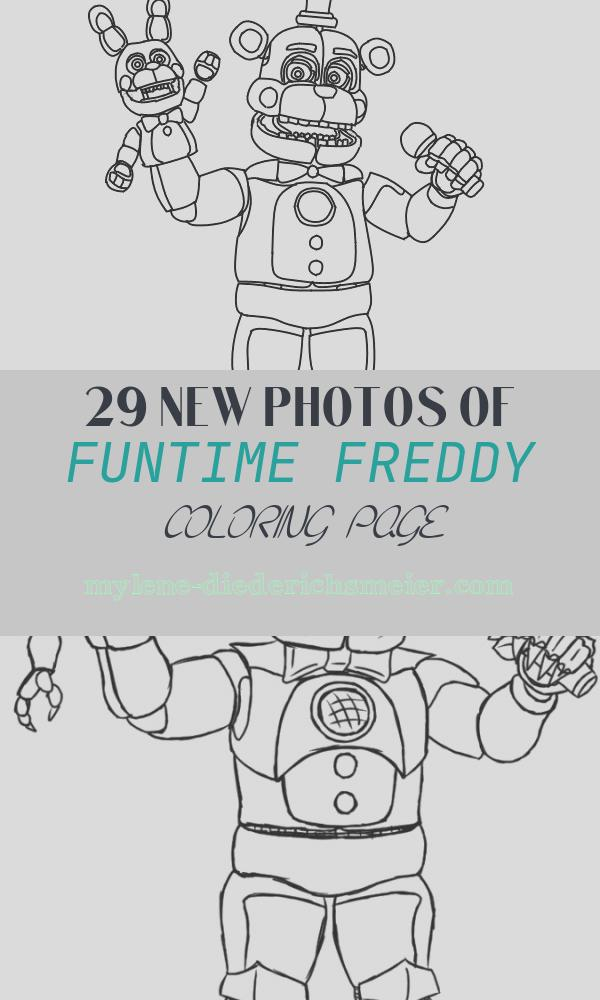 Funtime Freddy Coloring Page Unique Funtime Freddy Fnaf Coloring Pages