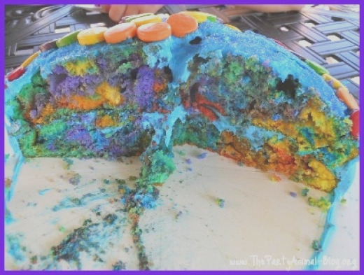 how to make rainbow cupcakes 2