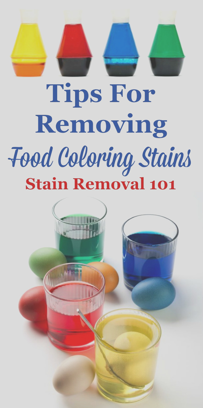 food coloring stain