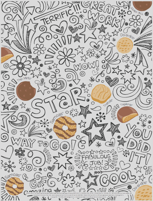 quick cookie coloring sheets