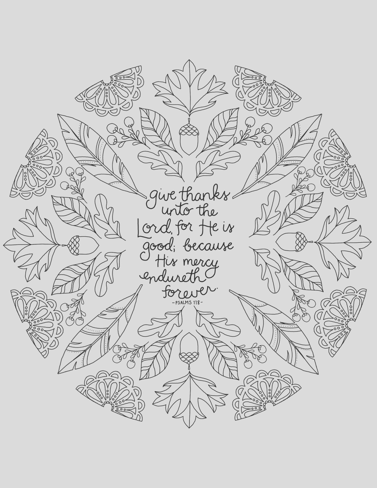 give thanks unto lord free thanksgiving