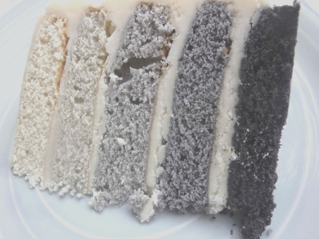 five shades of grey ombre cake