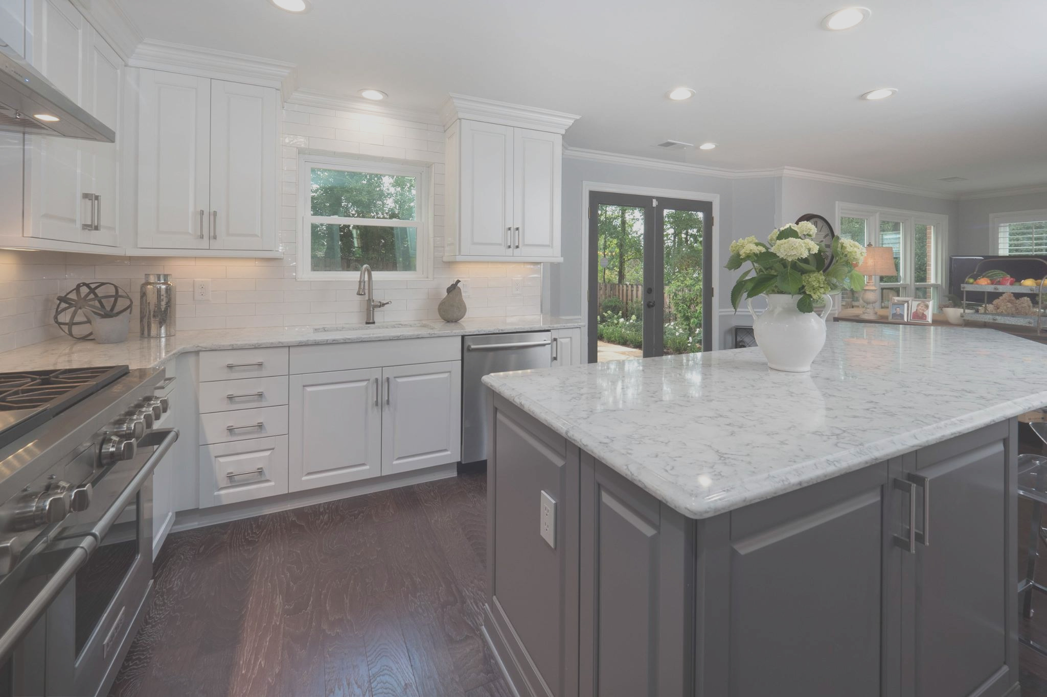 contemporary white gray kitchen in roswell ga