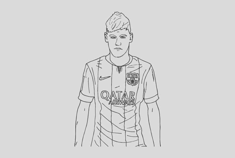 neymar hd coloring pages