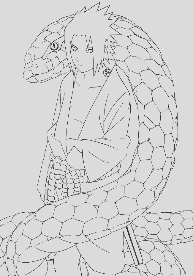 anime sasuke coloring pages