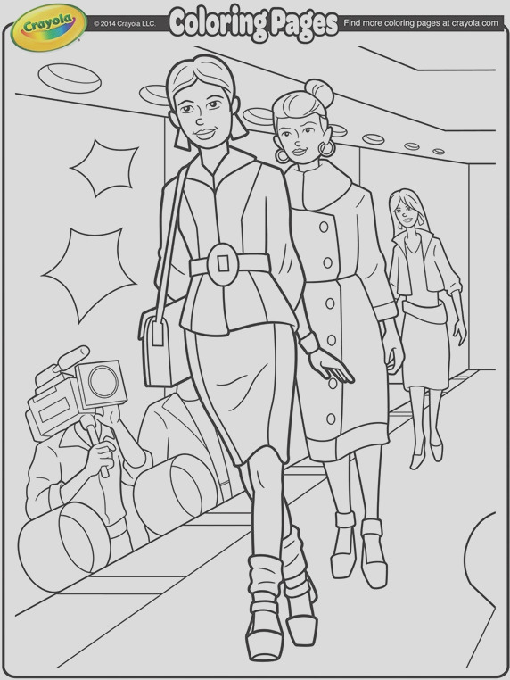 runway model iii coloring page