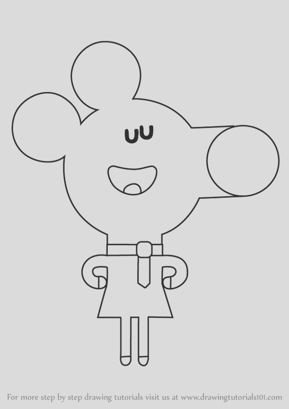 how to draw norrie from hey duggee