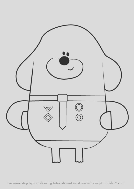 hey duggee free colouring pages