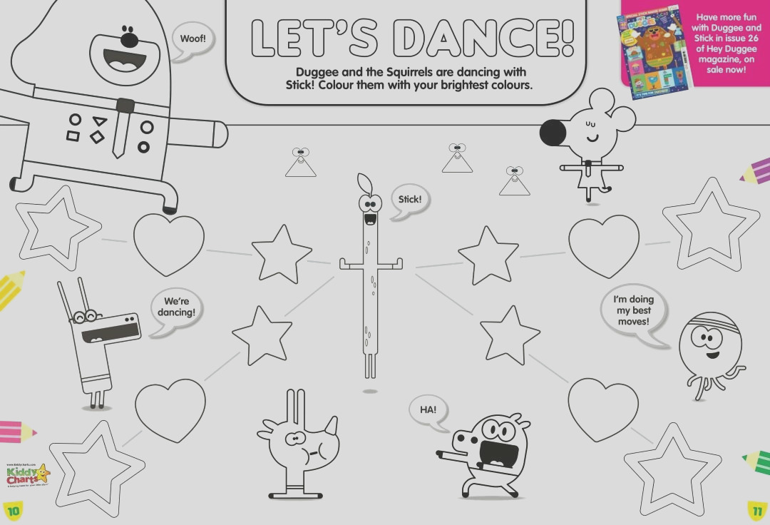 hey duggee stick song activity sheets