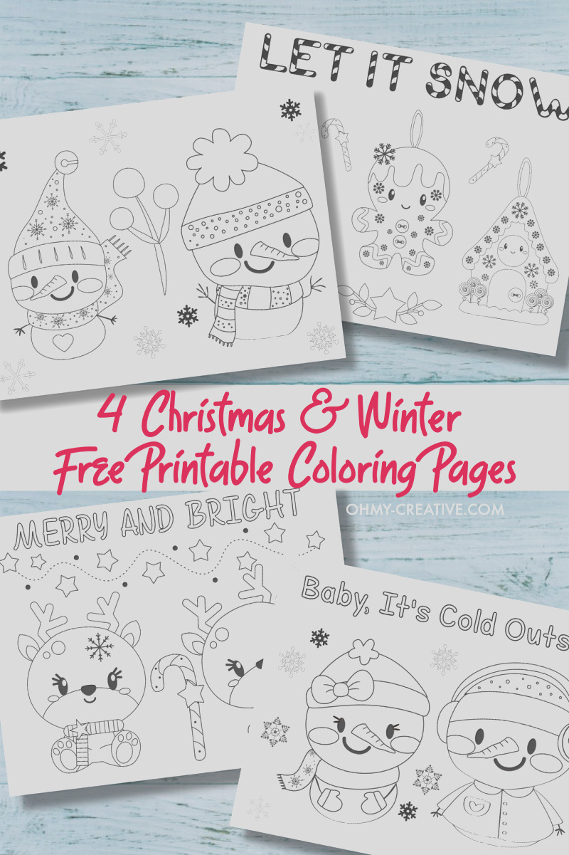 free printable christmas coloring pages pdf