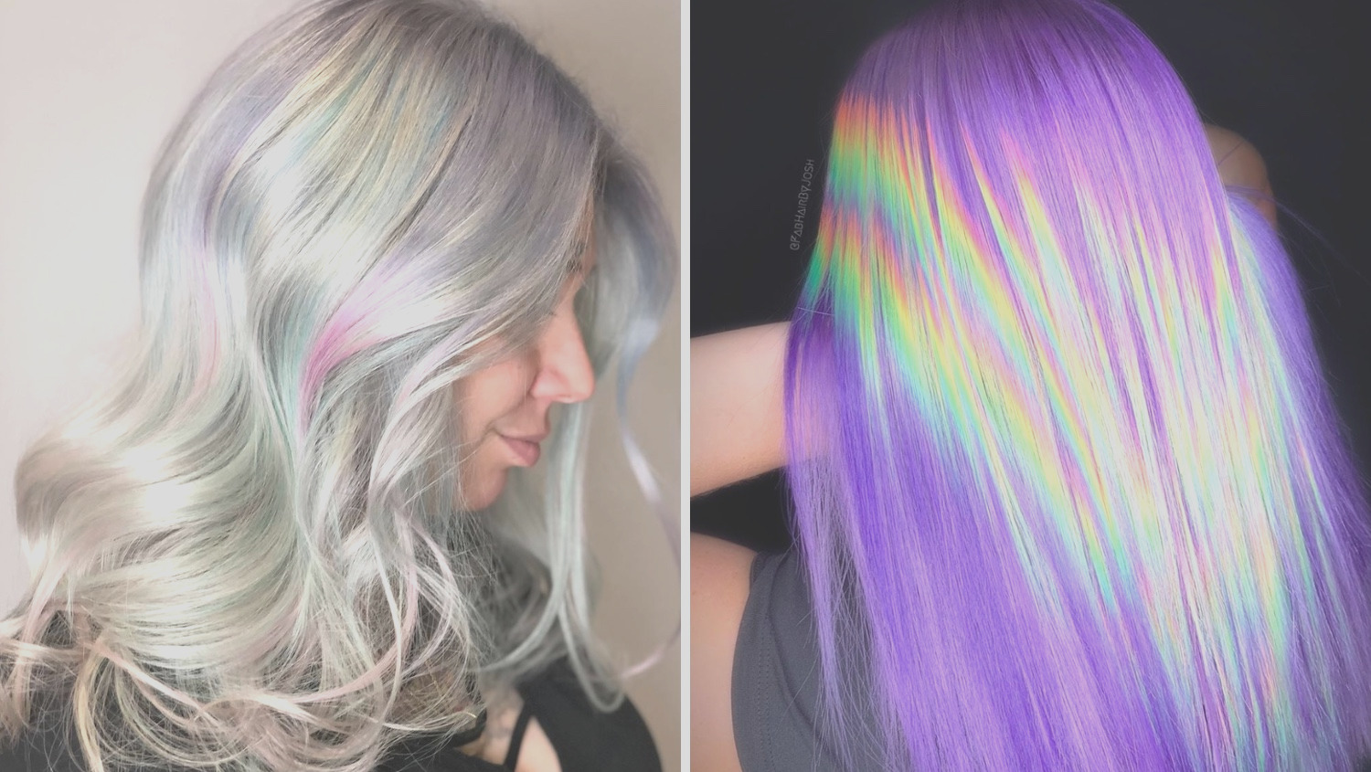 holographic hair is new color trend