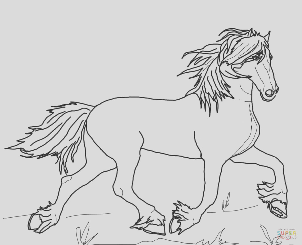 horse with rider coloring pages