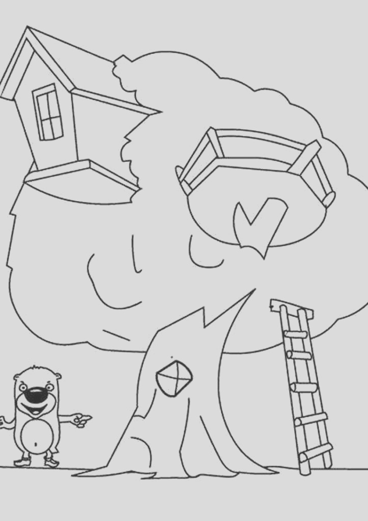 cartoon house coloring pages