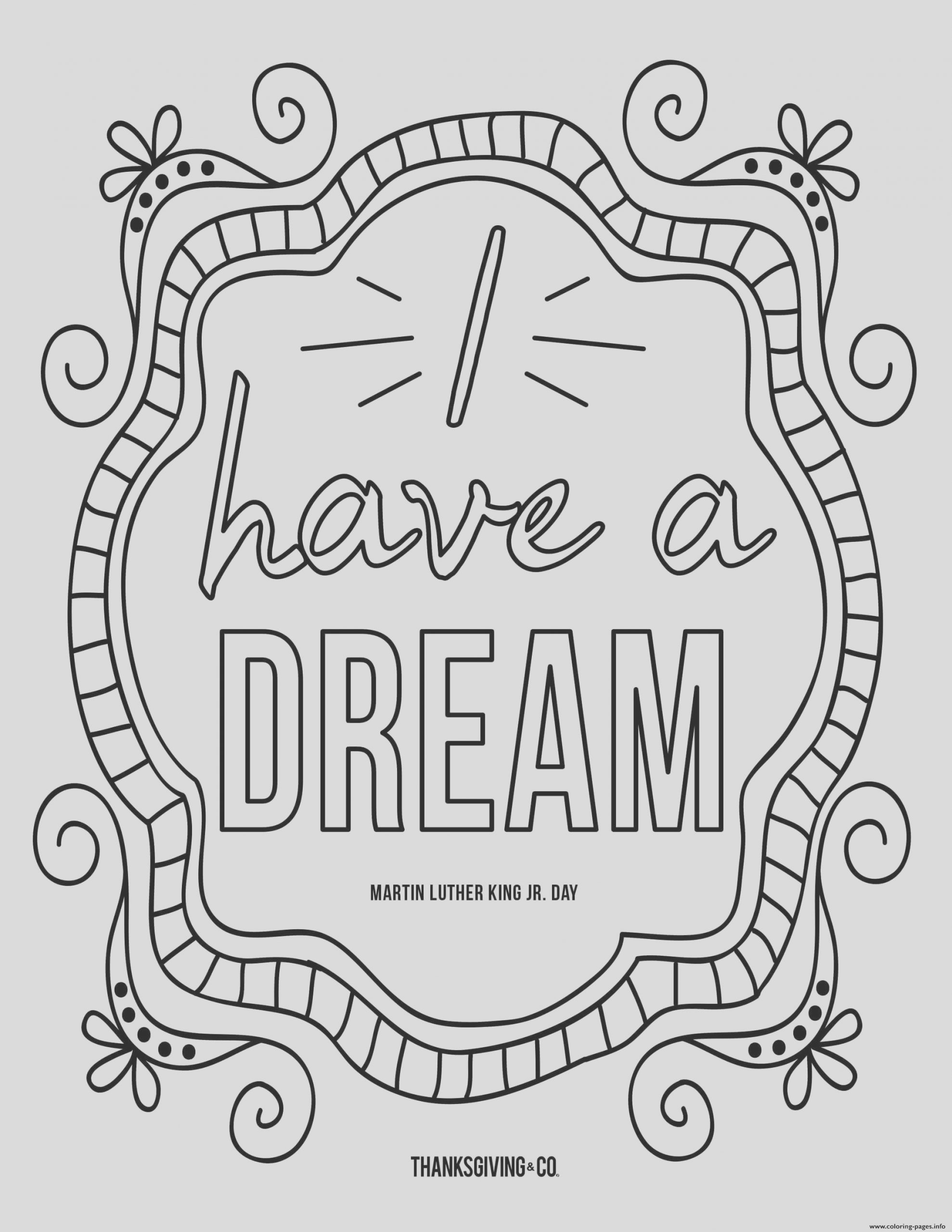 mlk jr i have a dream doodle printable coloring pages book