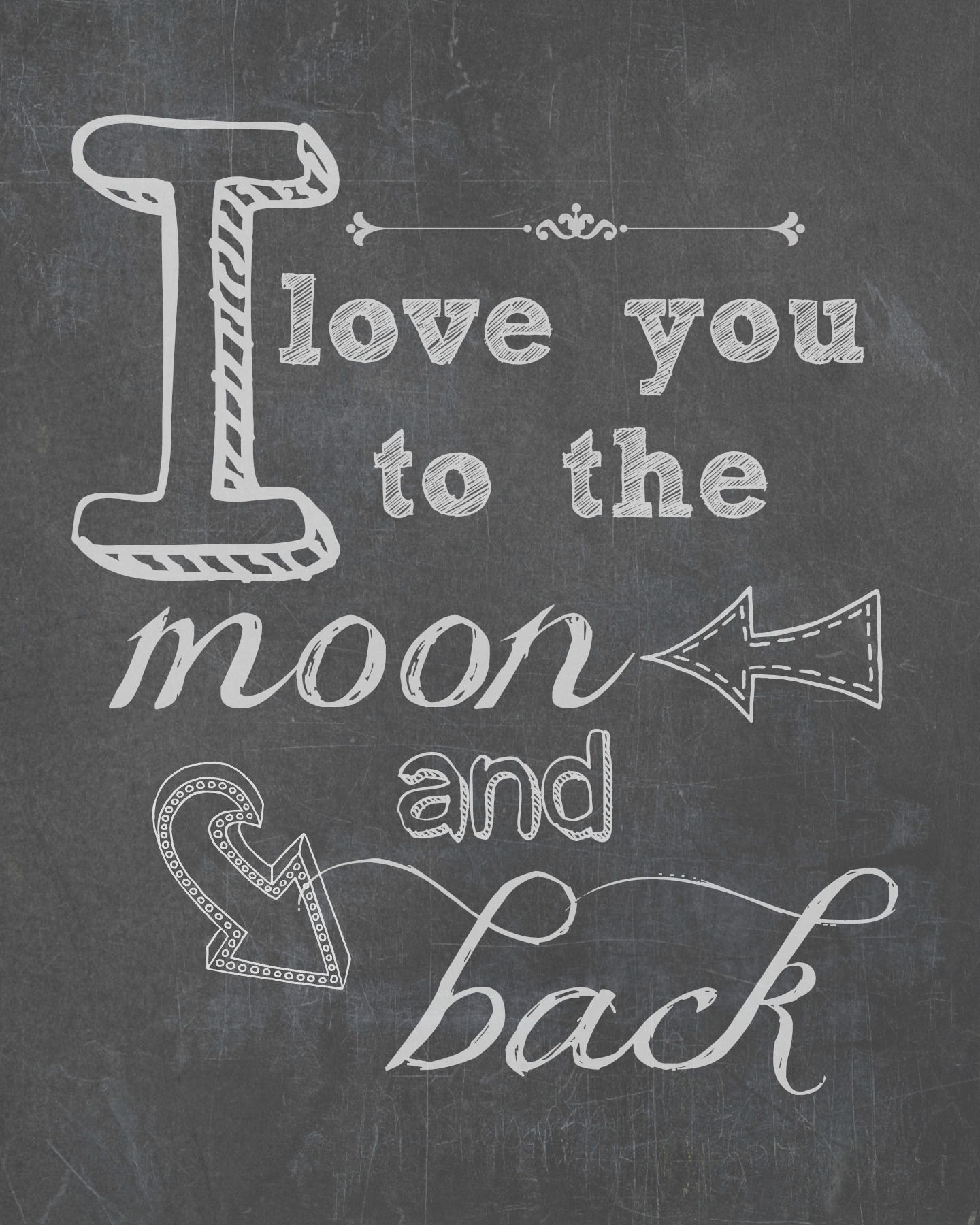 i love you to the moon back free printable