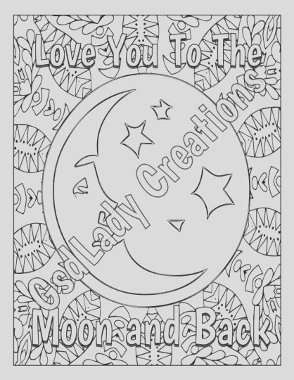 I Love You To The Moon And Back Coloring Pages part 2