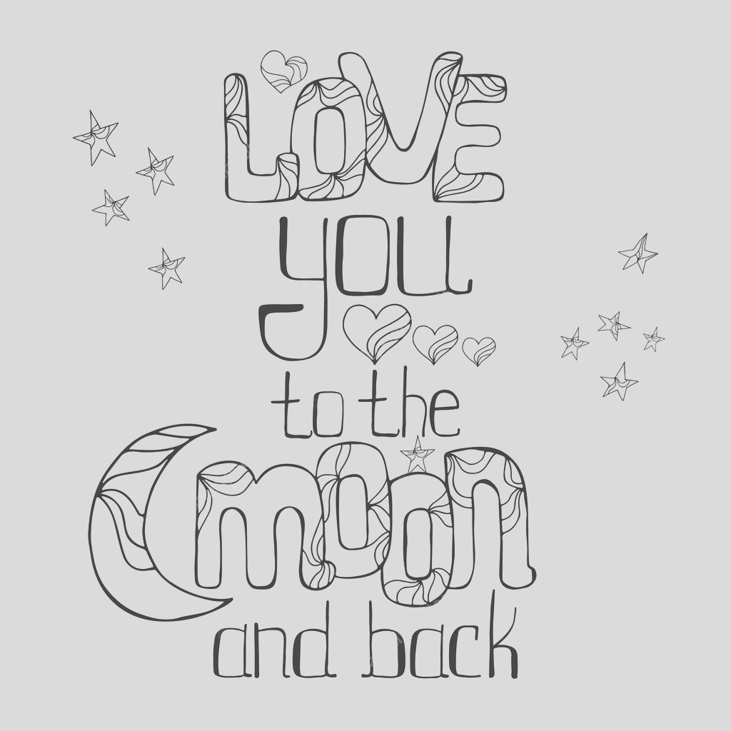 i love you to the moon and back coloring pages sketch templates