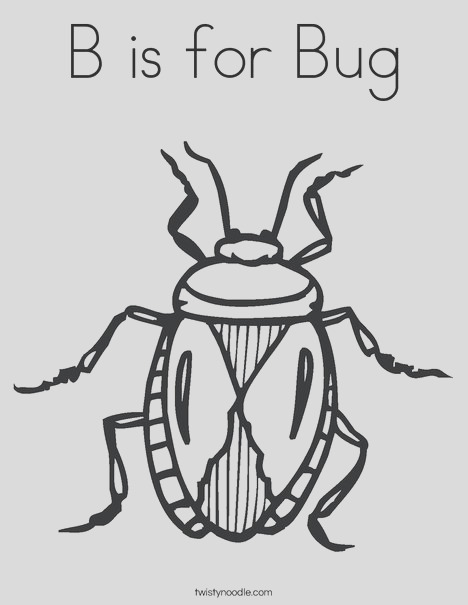 b is for bug 5 coloring page