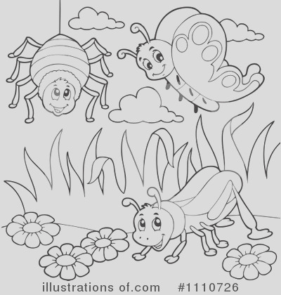 royalty free insects clipart illustration