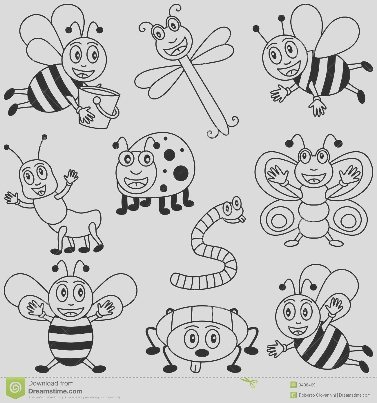 royalty free stock images coloring insects kids image