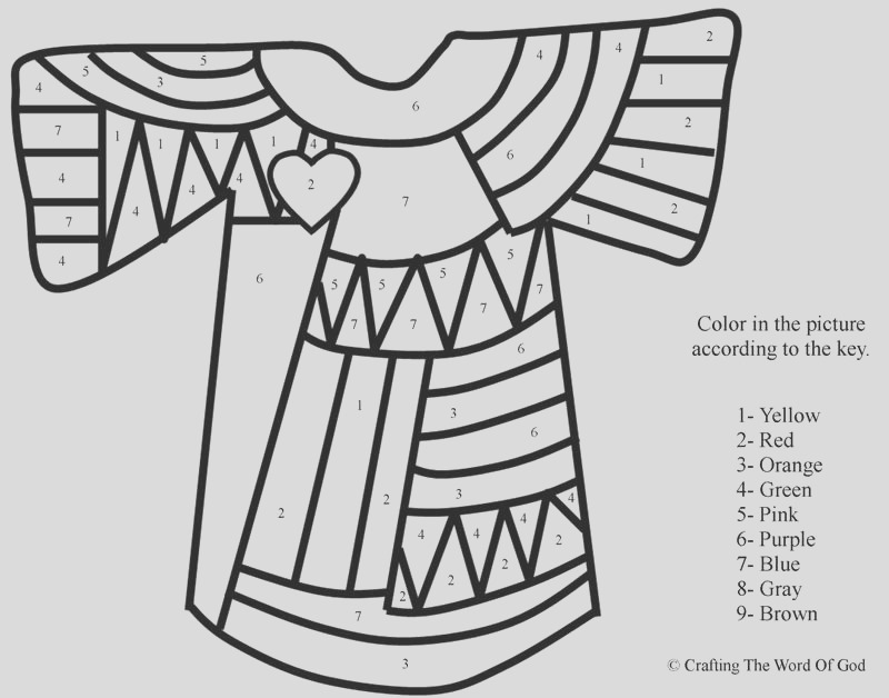 josephs coat of many colors color by number