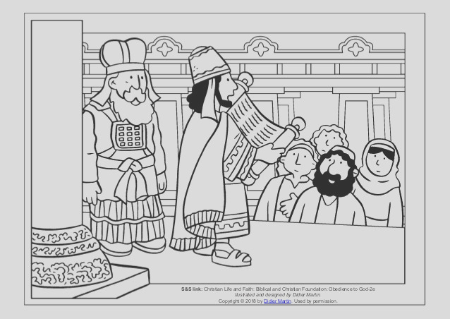 coloring page young people in the bible king josiah