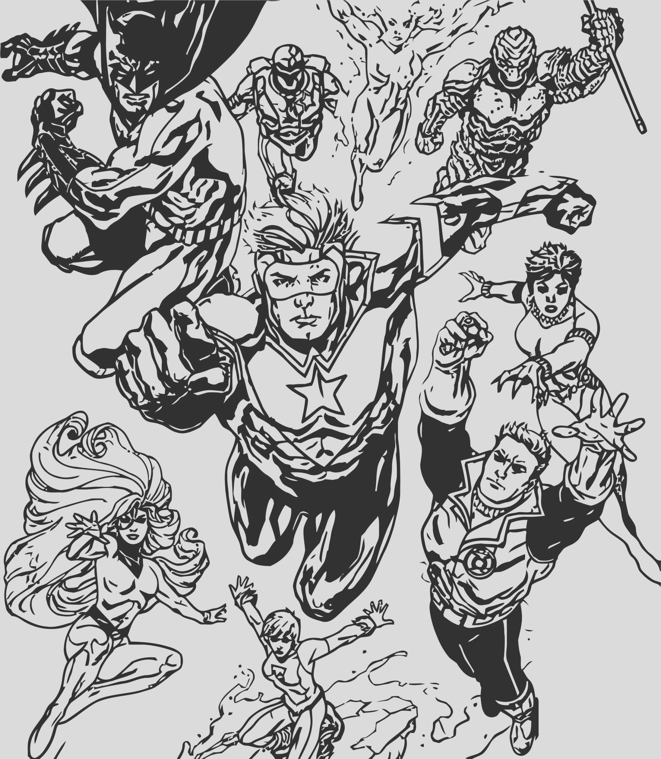 justice league coloring page wecoloringpage 37