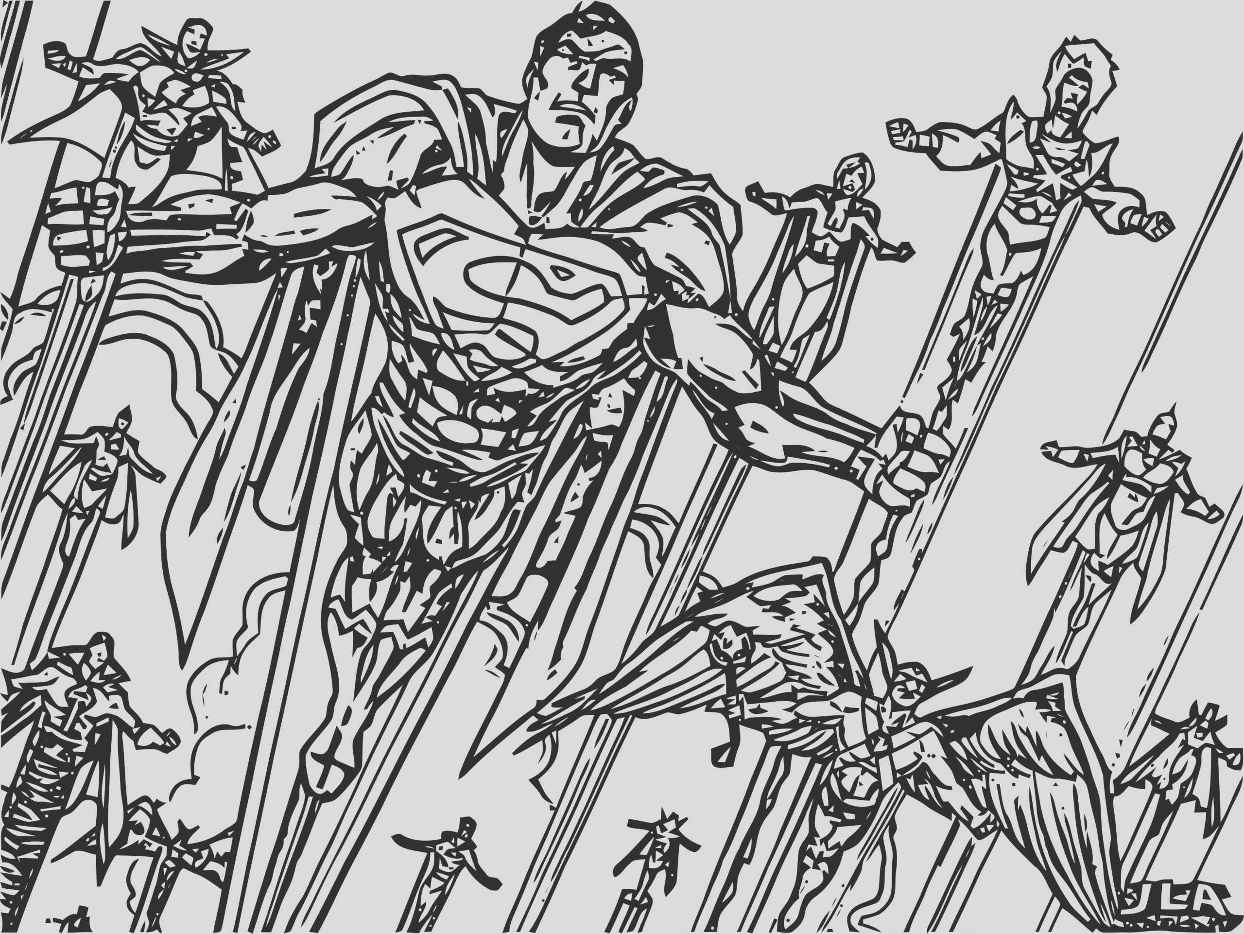 justice league coloring page wecoloringpage 61