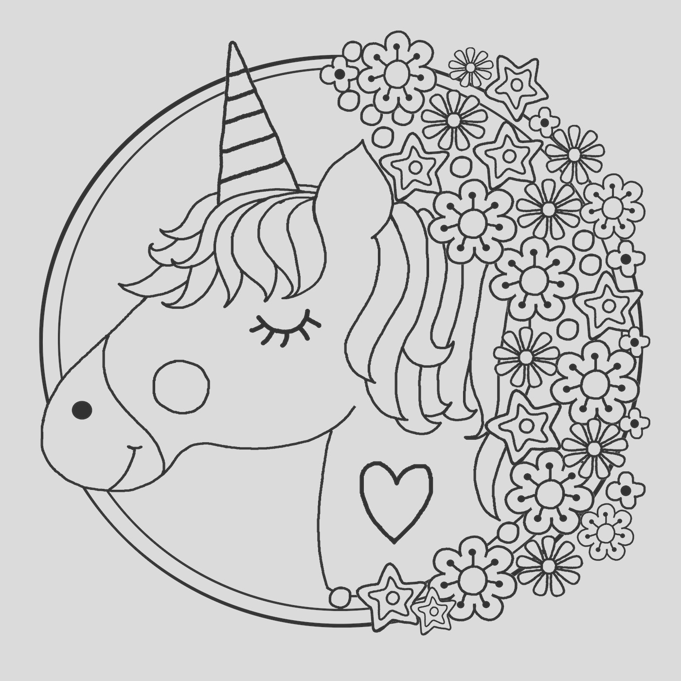 unicorn colouring book pages 5