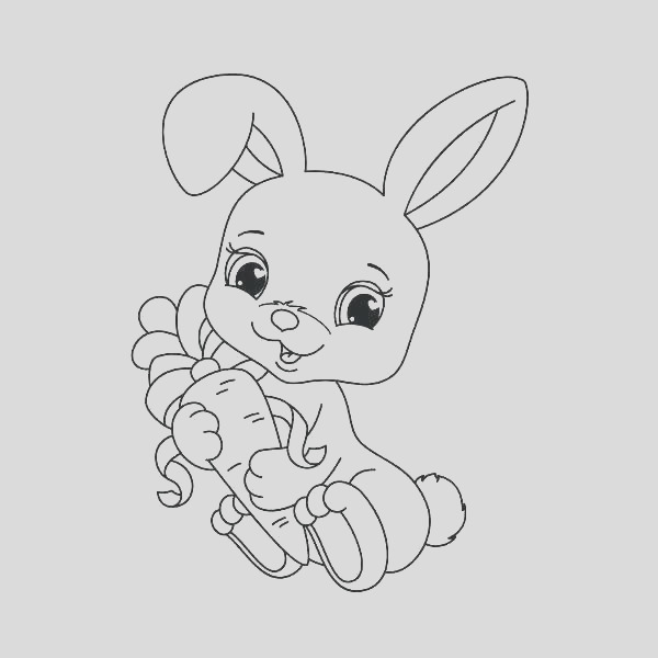 knuffle bunny coloring page