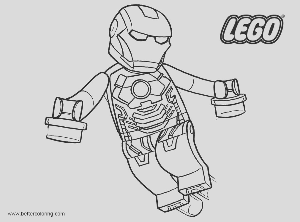 iron man from lego superhero coloring pages