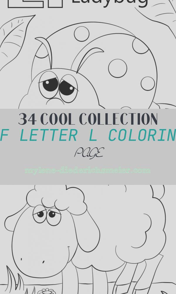 Letter L Coloring Page Lovely Letter L is for Ladybug Coloring Page