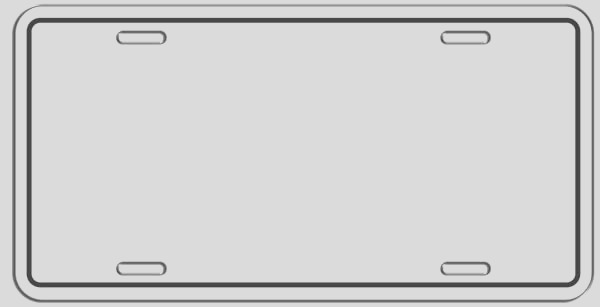 license plate template