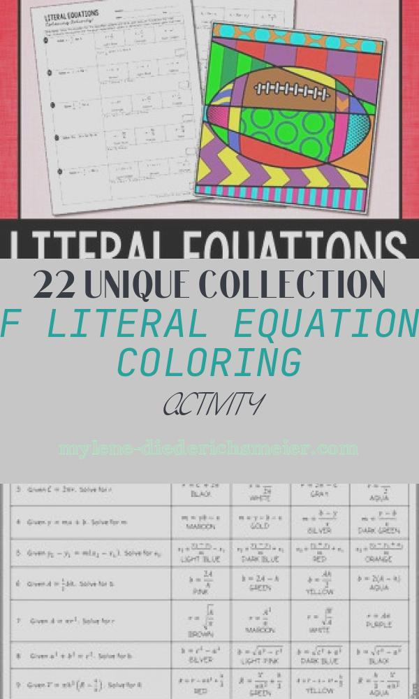 Literal Equations Coloring Activity Best Of Literal Equations Coloring Activity by All Things Algebra