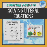 Search literal equations worksheet
