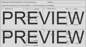 equations solving literal equations 1 coloring activity
