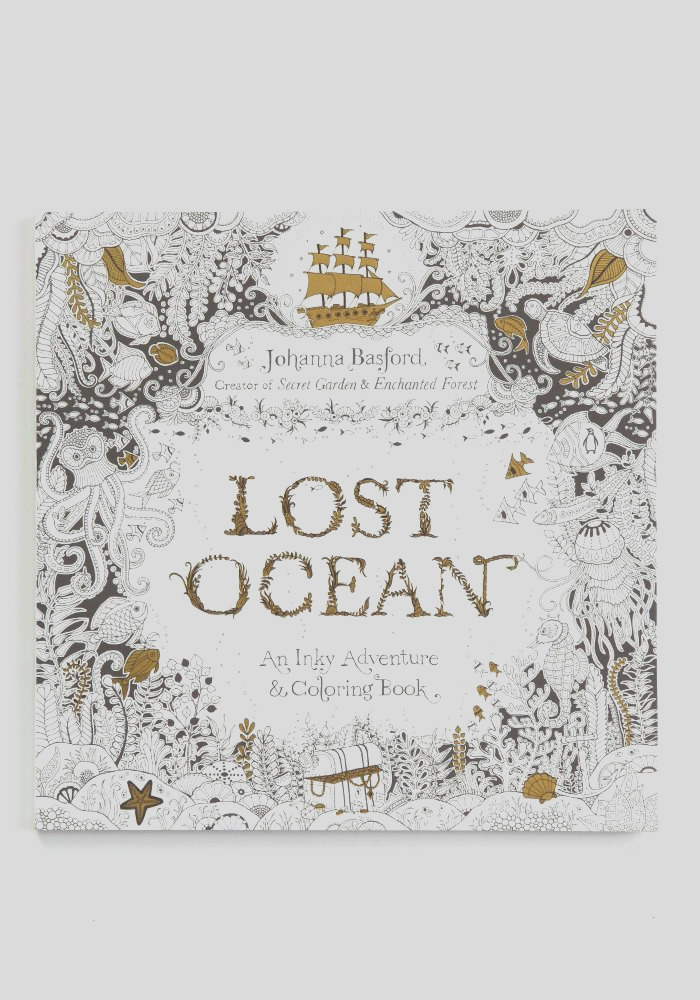johanna basford lost ocean inky adventure coloring book