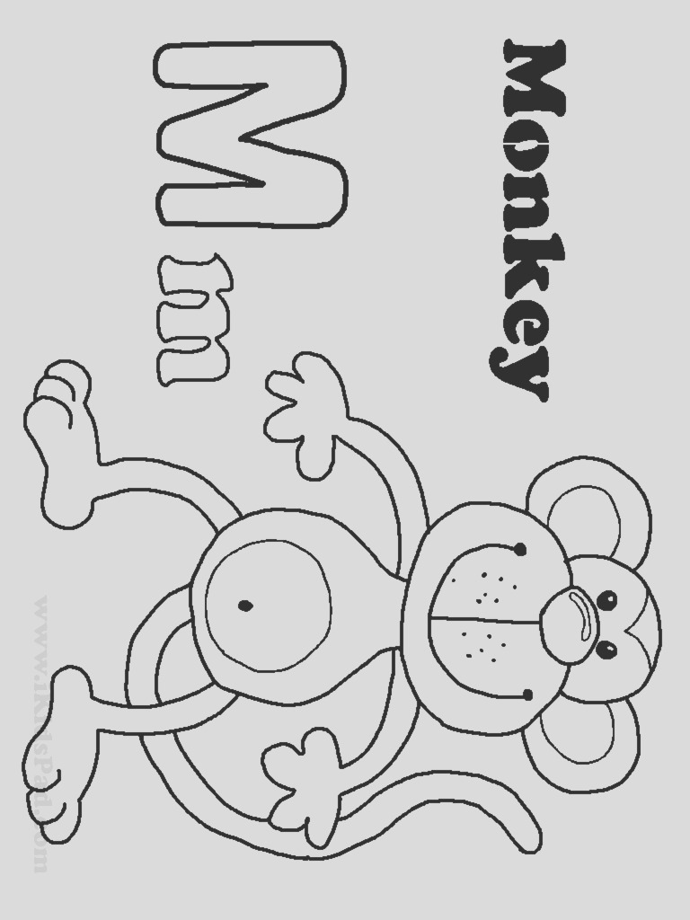 free letter m coloring pages for preschool 12