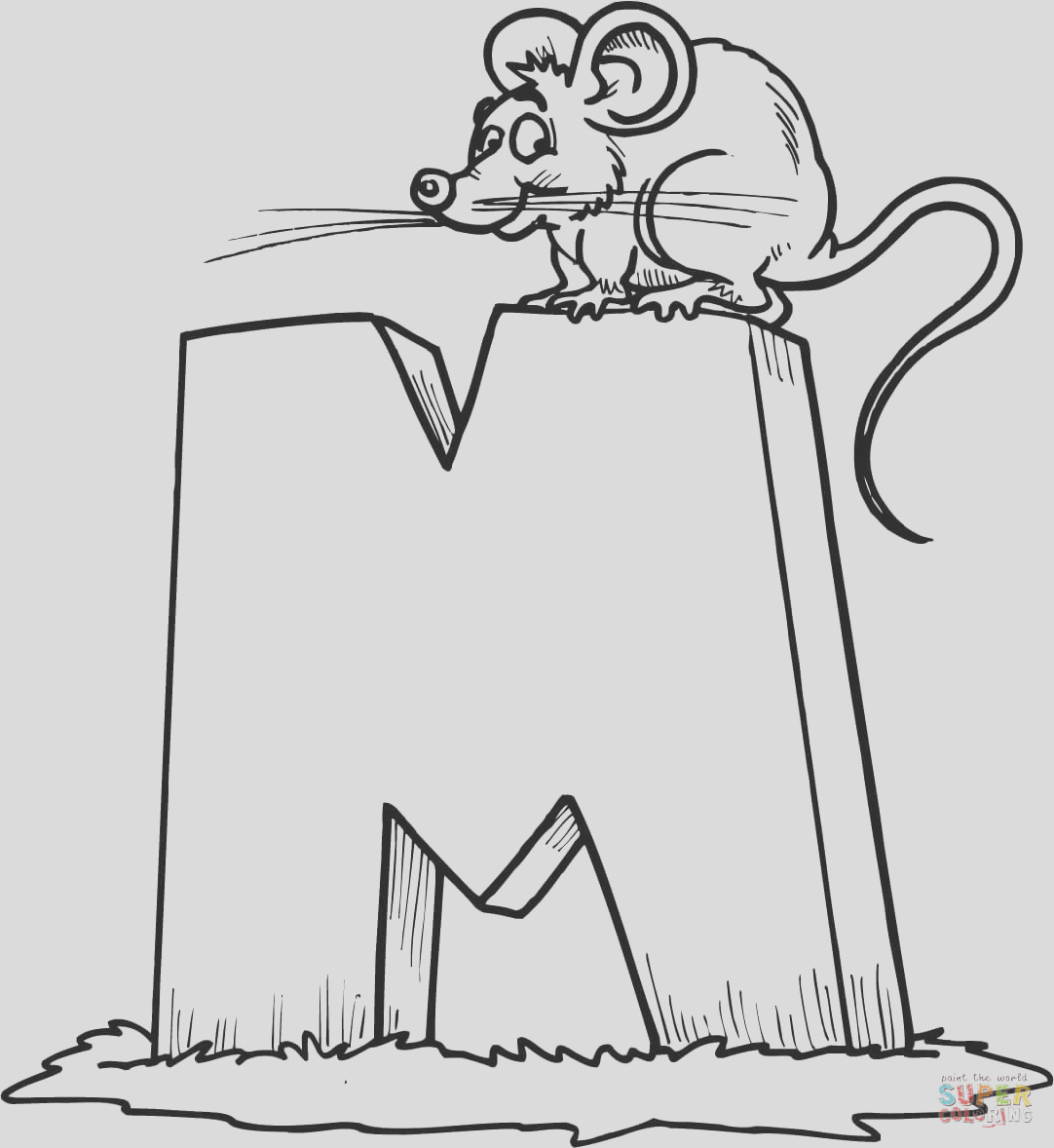 letter m is for mouse