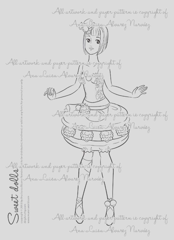 sweet dolls macaron girl digital