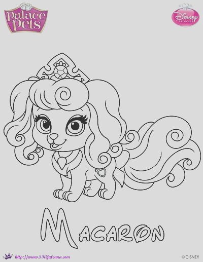 princess palace pets coloring page of macaron