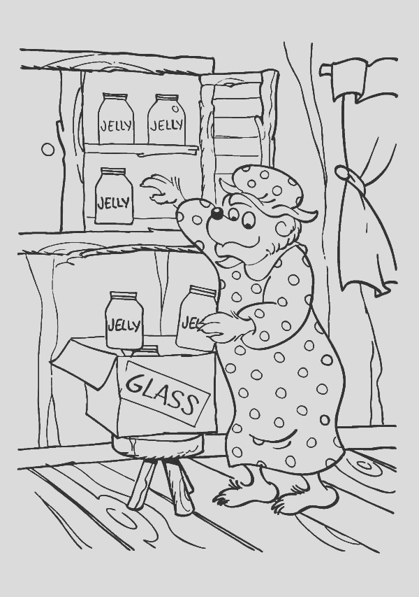 mama bear a housewife of berenstain bear coloring pages