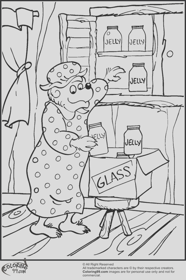 berenstain bears family coloring pages sketch templates