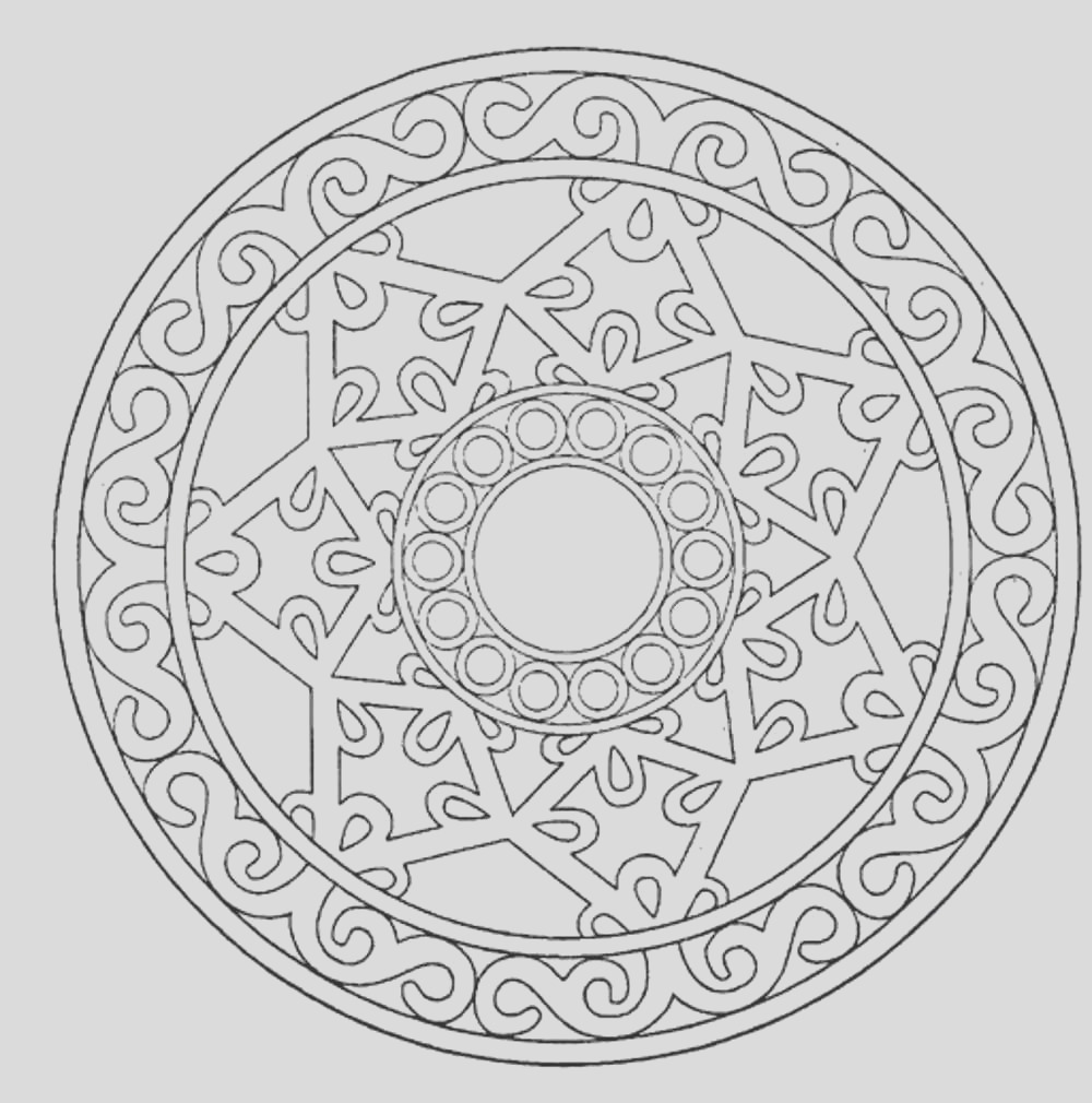 mandala adult coloring pages printable