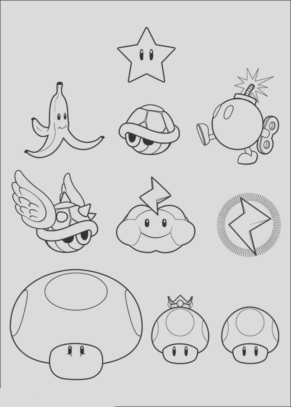 mario coloring pages themes