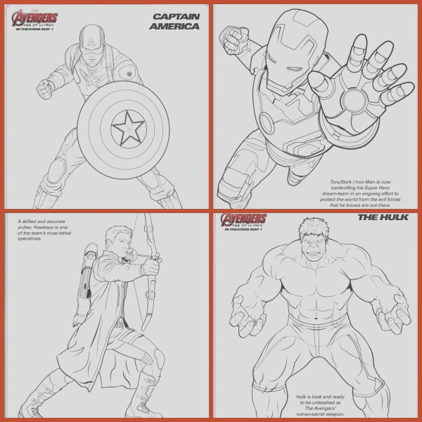 marvel avengers coloring sheets