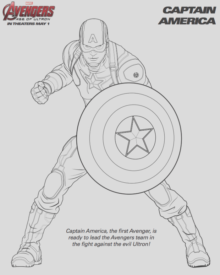 free marvel avengers coloring pages