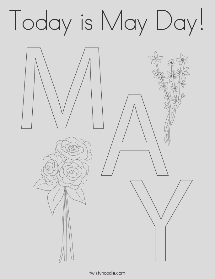 today is may day 2 coloring page